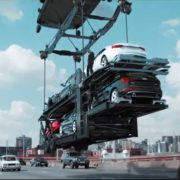 Mobile crane used in TV advert - Liftup telehandler hire