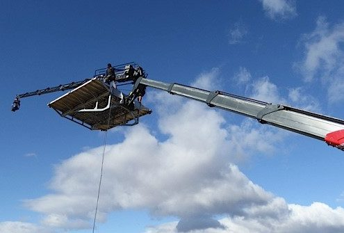 Mobile crane camera platform with Supertechno camera crane at film shoot in Cape Town