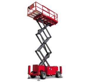 A scissor lift machine