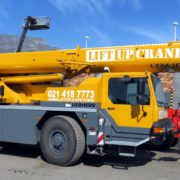 40-ton Liebherr mobile crane for hire in Cape Town