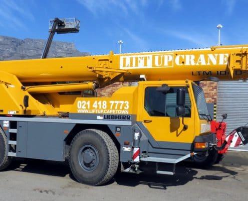 40-ton Liebherr mobile crane for hire in Cape Town