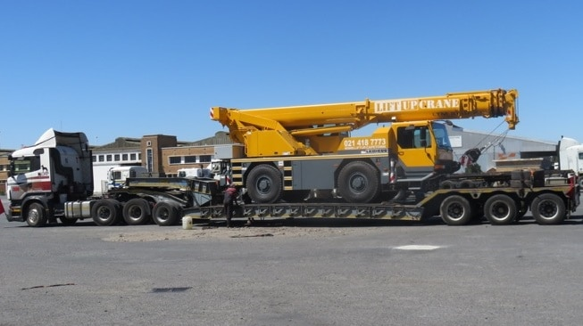 Liebherr crane on a truck